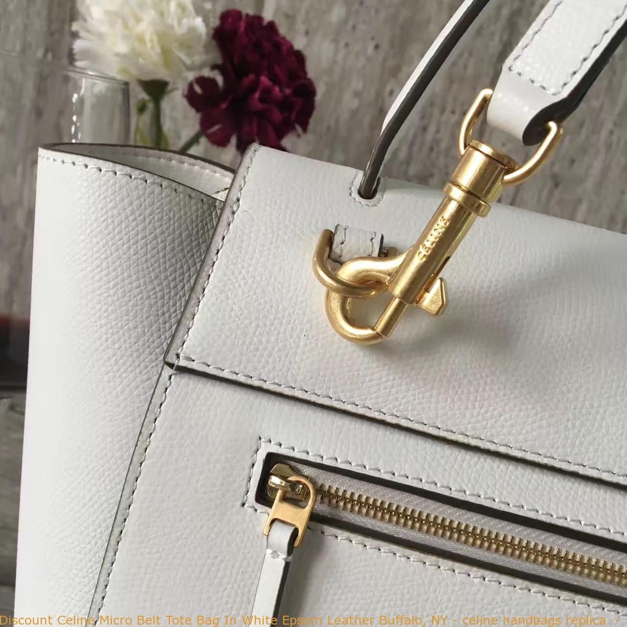 6a2a9629a0 Discount Celine Micro Belt Tote Bag In White Epsom Leather Buffalo ...