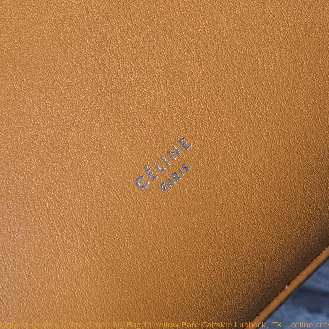 6710e838d664 Highest Quality Celine Small Big Bag In Yellow Bare Calfskin Lubbock ...