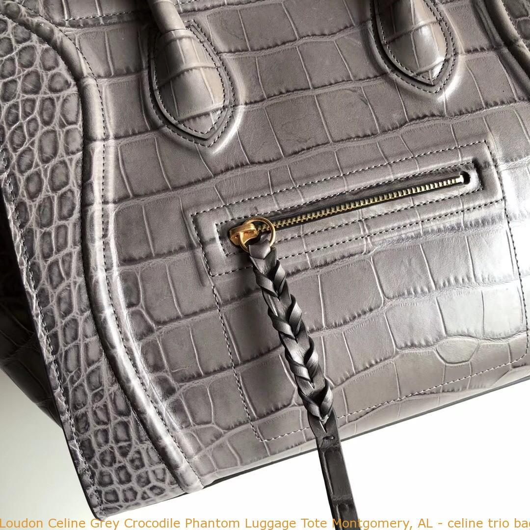 Loudon Celine Grey Crocodile Phantom Luggage Tote Montgomery f4fa6457c31d3