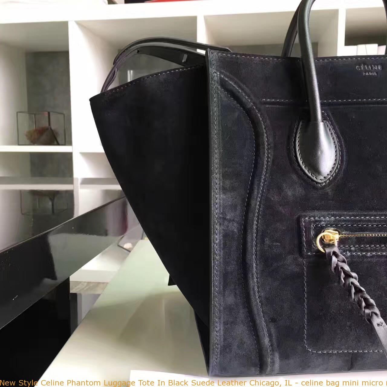 f4574097f3 New Style Celine Phantom Luggage Tote In Black Suede Leather Chicago ...